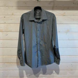 Black Brown 1826 | Men's Grey Slim Fit Dress Shirt